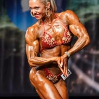 Bodybuilding Jo closeup