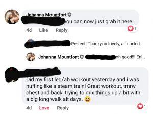 Johanna home workout